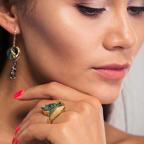 Перстень Misis Liberty с синим обсидианом, фото