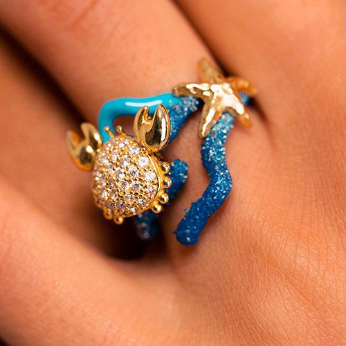 Кольцо Misis Positano в морском стиле, фото
