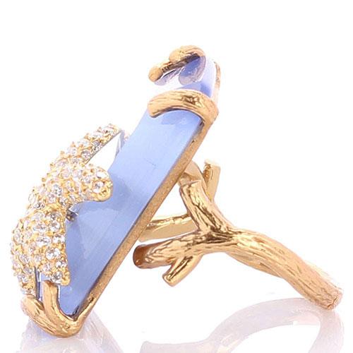 Перстень Misis Nautilus с голубым кварцем и морской звездой, фото