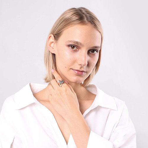 Кольцо Misis Hanami с ласточкой, фото