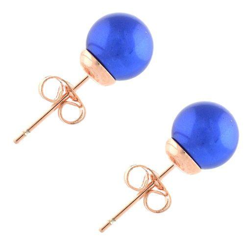 Асимметричные серьги-гвоздики синие можно носить тремя способами, фото