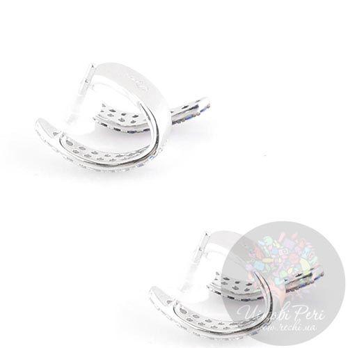Серьги-пусеты APM Monaco Corail серебряные с цирконами и шпинелью небольшие, фото
