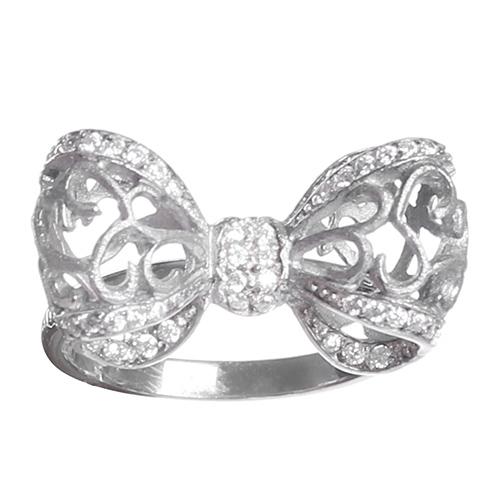 Серебряное кольцо Misis Bon Ton с бантом, фото