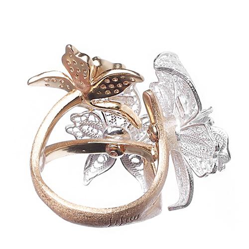 Серебряное кольцо Misis Marisol с крупными орхидеями, фото