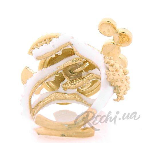 Крупное кольцо Misis в форме рыбки с сапфирами, фото