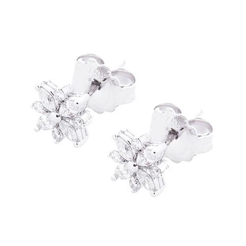Бриллиантовые гвоздики Оникс в форме цветов, фото