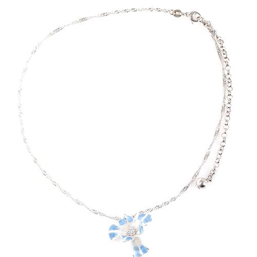 Подвеска Misis Gemina с цветком ириса голубого цвета, фото