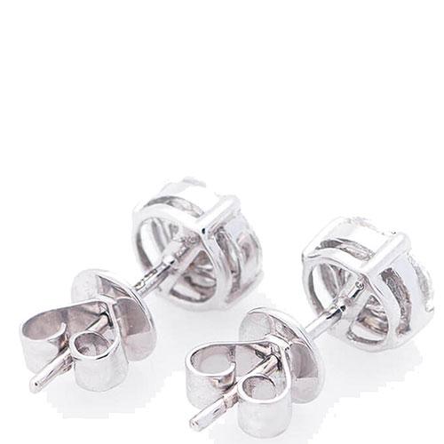 Гвоздики Оникс из золота с бриллиантами, фото