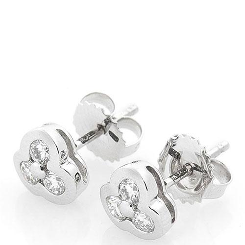 Серьги Оникс из белого золота с бриллиантами, фото