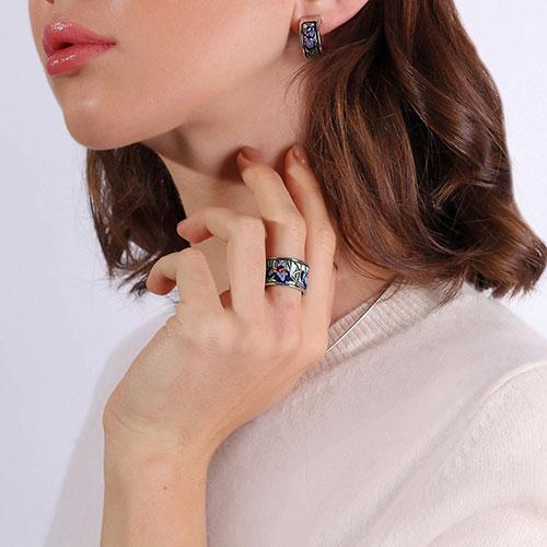 Кольцо Freywille Diva Ирисы Клод Моне, фото