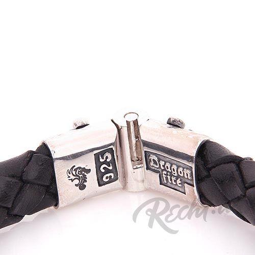 Плетеный кожаный браслет ElfCraft Драконы, фото