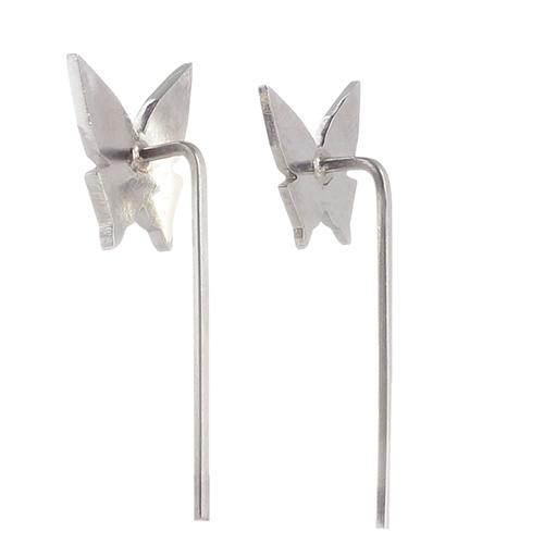 Серьги Logvinenko Jewelry Geometry с белыми бабочками, фото