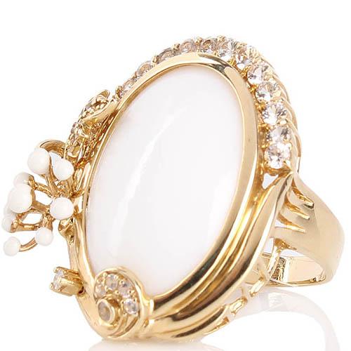 Крупный перстень Roberto Bravo с драгоценными камнями и белой эмалью, фото