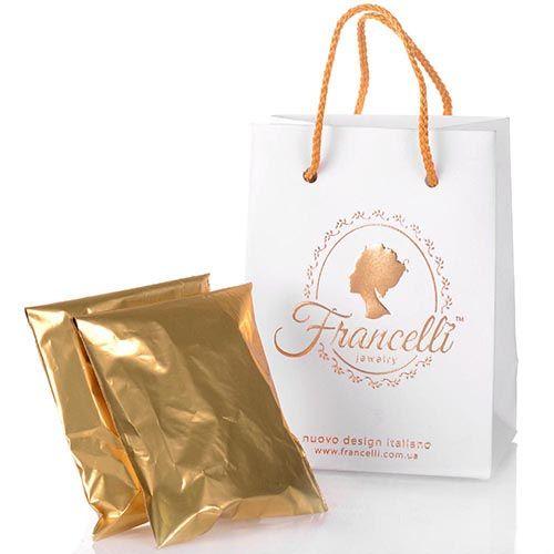 Ажурные серьги Francelli из белого и желтого золота, фото