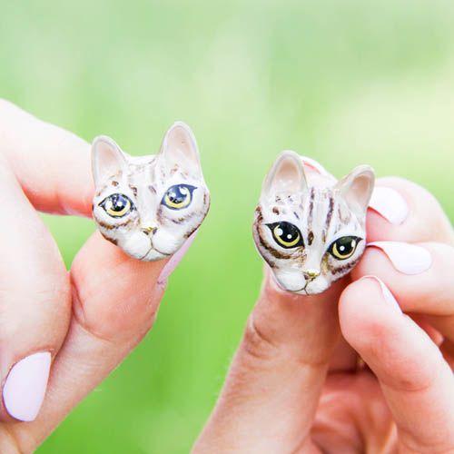 Серьги-пусеты Good After Nine Mok в виде котов, фото