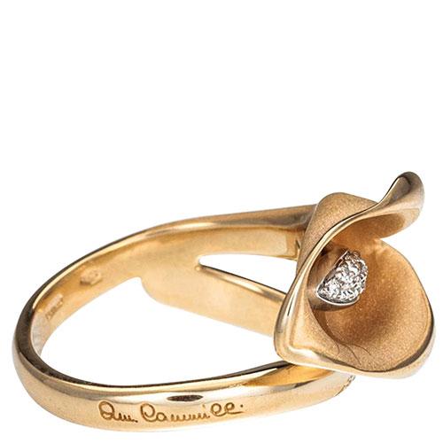 Кольцо Annamaria Cammilli Calla в форме цветка и бриллиантами, фото