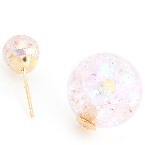 Серьги-гвоздики Jewels Крем-сода, фото