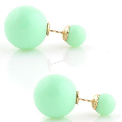 Пуссеты Jewels мятного цвета глянцевые, фото