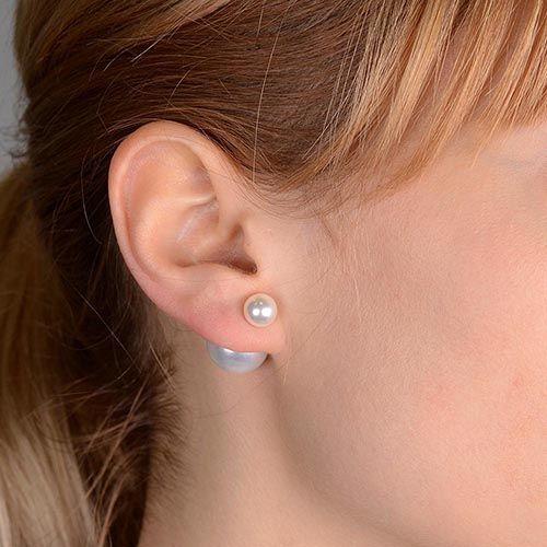 Серьги-пусеты Jewels белые глянцевые, фото