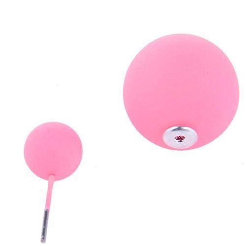 Серьги пусеты Jewels матовые розового цвета, фото