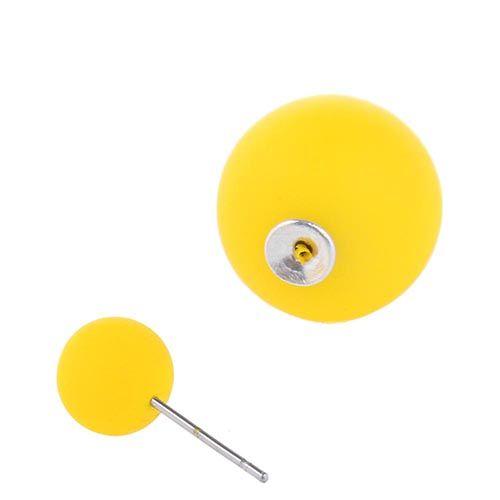 Серьги пусеты Jewels матовые желтого цвета, фото