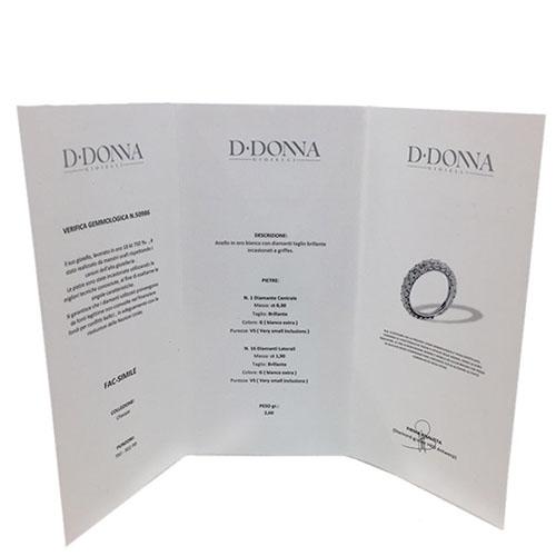 Кольцо D-Donna Ruggero Broggian Marie из белого золота с бриллиантами, фото