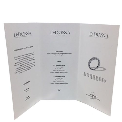 Кольцо D-Donna Ruggero Broggian Cuoro из белого золота с бриллиантами и сапфирами, фото