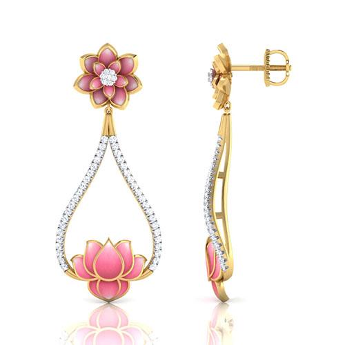 Золотые серьги Perfecto Jewellery с бриллиантами je03252-ygp900, фото