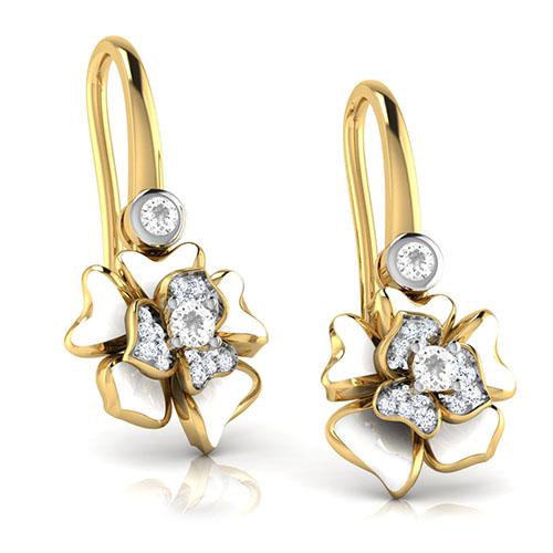 Серьги Perfecto Jewellery с топазами и бриллиантами je03610-ygp9wp, фото