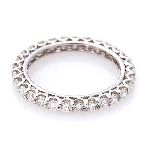 Бриллиантовое кольцо Оникс  из белого золота, фото