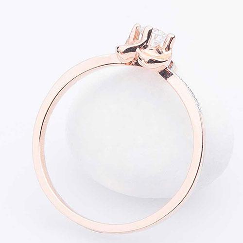 Женское кольцо Оникс с белыми бриллиантами, фото