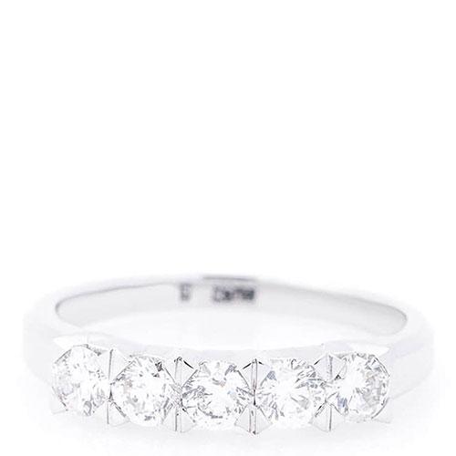 Женское кольцо Оникс из белого золота, фото