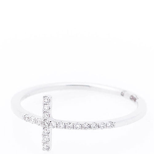 Тонкое кольцо Оникс Крест с бриллиантами, фото