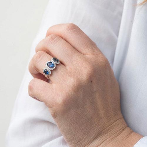 Женское кольцо Оникс с драгоценными камнями, фото