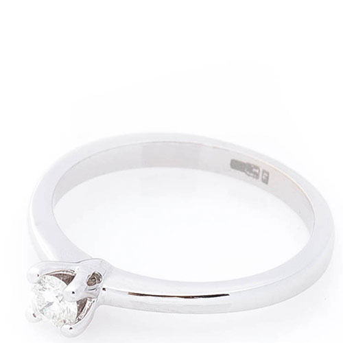 Кольцо из белого золота Оникс с бриллиантом, фото