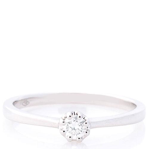 Кольцо помолвочное Оникс с бриллиантом, фото