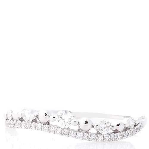 Волнообразное кольцо Оникс с бриллиантами, фото