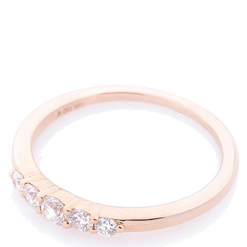 Кольцо с бриллиантами Оникс из красного золота, фото
