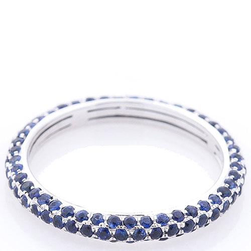 Кольцо Оникс с синими сапфирами, фото