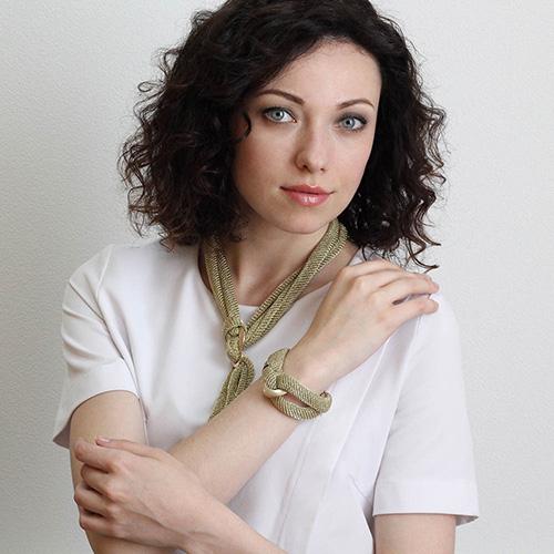 Позолоченный браслет Elisabeth Landeloos Переплет, фото