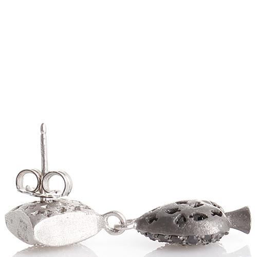 Серьги-гвоздики Misis Pokerface с цирконами, фото