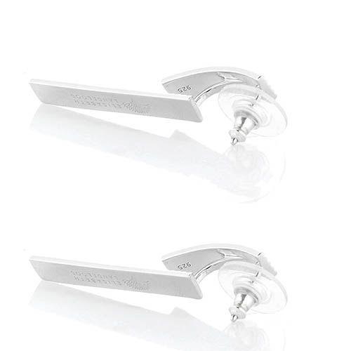 Серебряные серьги Elisabeth Landeloos прямоугольной формы, фото