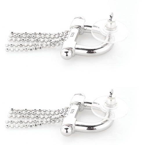 Серебряные серьги-пусеты Elisabeth Landeloos с цепочками, фото