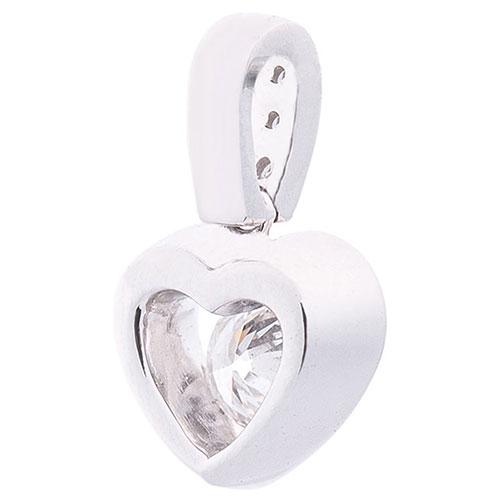 Подвеска Оникс в форме сердца с бриллиантами, фото