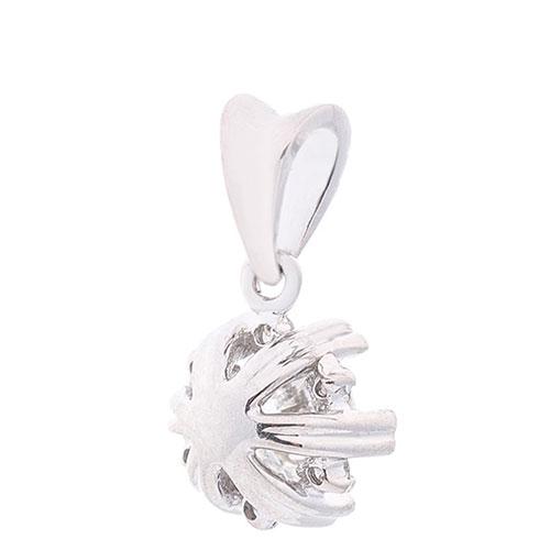 Золотой кулон Оникс с декором-сердцами, фото