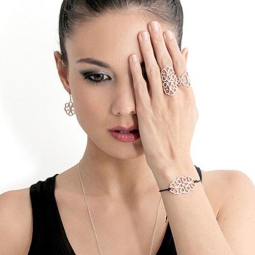 Серебряное кольцо APM Monaco с позолотой, фото