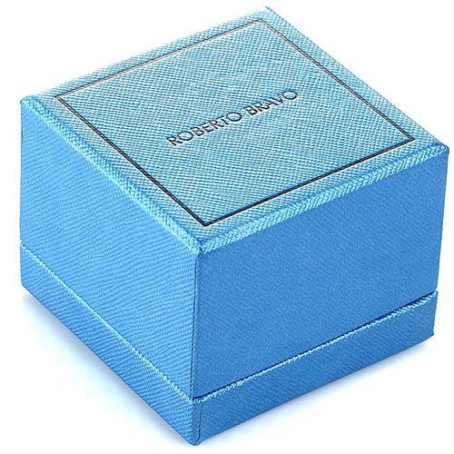 Серьги Roberto Bravo Noahs Ark золотые с голубыми цветами перламутром и бриллиантами, фото