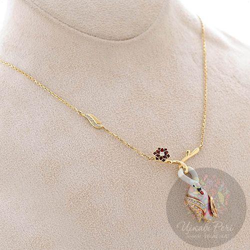 Подвеска на цепочке Roberto Bravo Swan Lake из золота с бриллиантами, фото