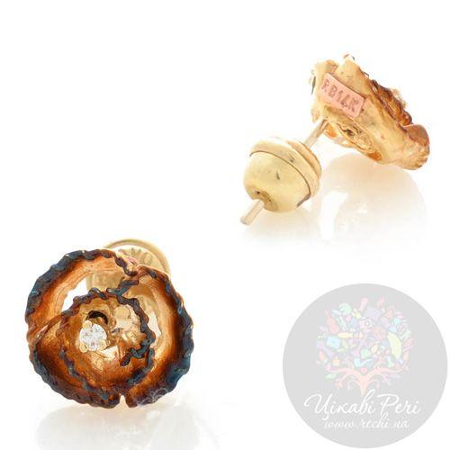 Серьги-гвоздики Roberto Bravo Gallica золотые с бриллиантами, фото