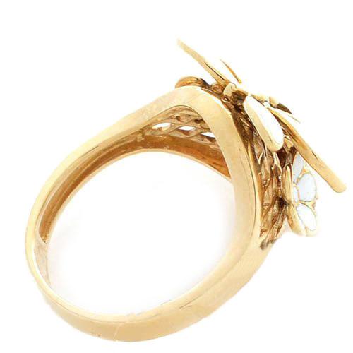 Кольцо Roberto Bravo White Dreams золотое со стрекозой и бриллиантами, фото